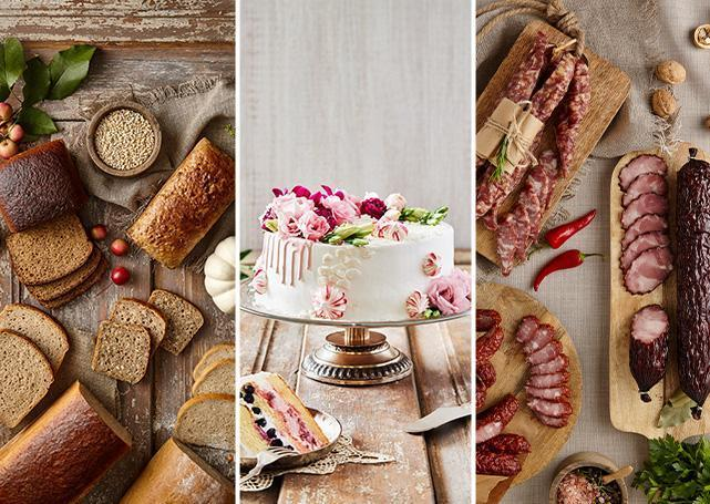 Chleby, torty ikiełbasy wofercie Społem